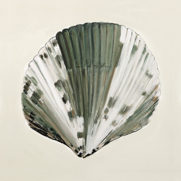 Sea shell in pastelkleuren - olieverfschilderij Gratis Foto