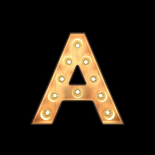Selectiekader licht alfabet a Premium Foto