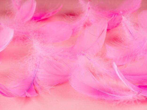 Selectieve zachte nadruk dichte omhoog roze de textuurachtergrond van de pastelkleur in pastelkleur Premium Foto