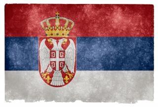 Servië grunge vlag afbeelding Gratis Foto