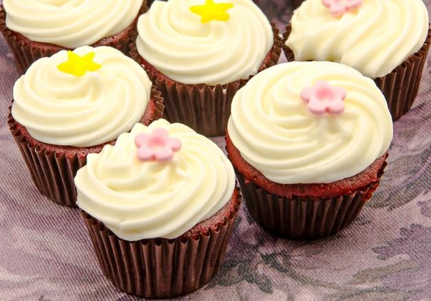 Set van cupcakes Premium Foto