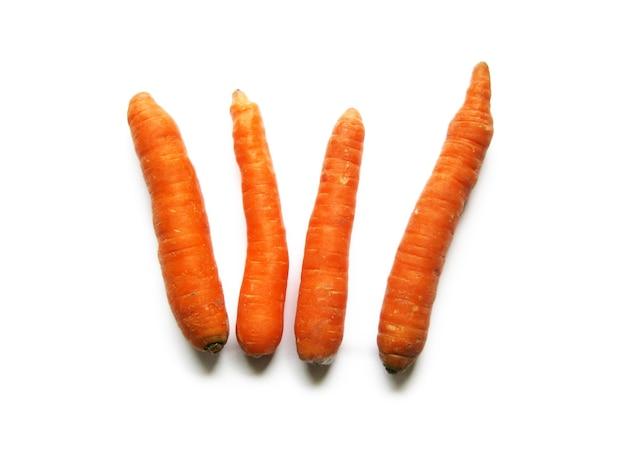 Set van oranje wortelen Gratis Foto