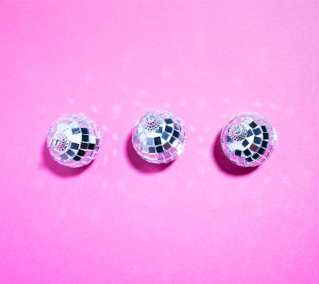 Set van ornament zilveren ballen Gratis Foto