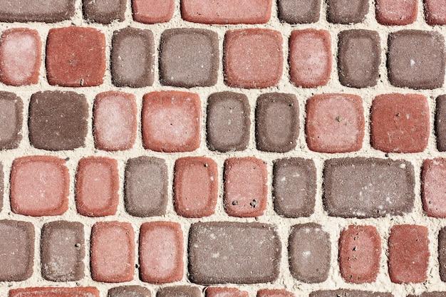 Sett bakstenen, textuur of achtergrond, steen Premium Foto