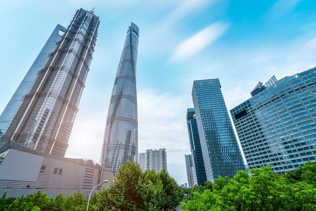 Shanghai lujiazui architectural landscape skyline Premium Foto