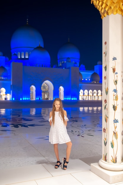 Sheikh zayed-moskee in abu dhabi, verenigde arabische emiraten Premium Foto