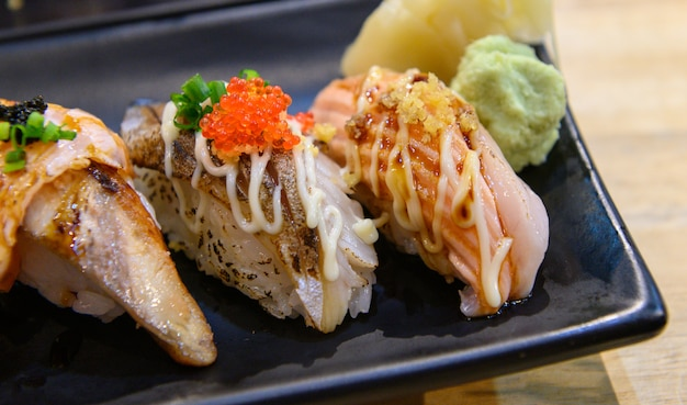 Shushi shalmon groot Premium Foto