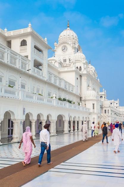 Sikh museum in de gouden tempel Premium Foto