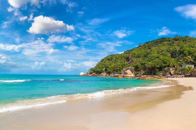 Silver beach op het eiland koh samui, thailand Premium Foto