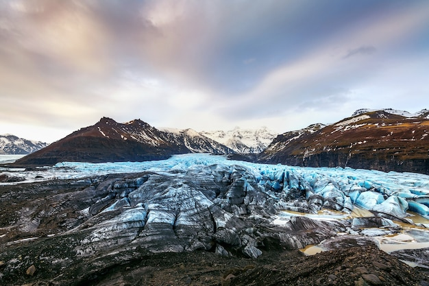 Skaftafell-gletsjer, vatnajokull national park in ijsland. Gratis Foto