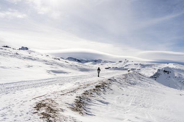 Skigebied van de sierra nevada in de winter Premium Foto
