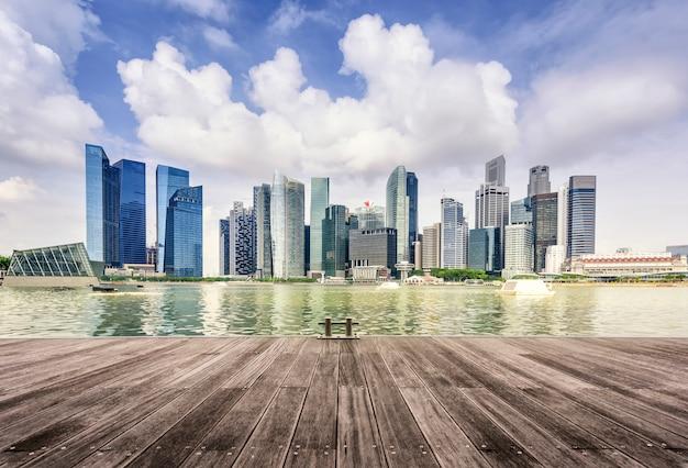 Skyline van singapore Premium Foto