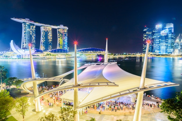Skyline van singapore Gratis Foto
