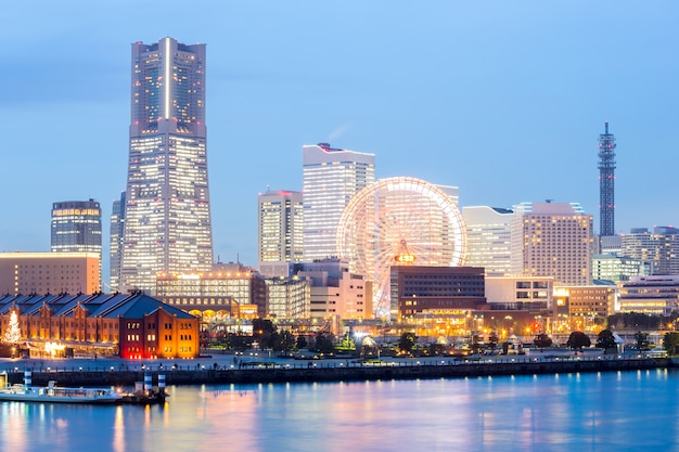 Skyline van yokohama Premium Foto