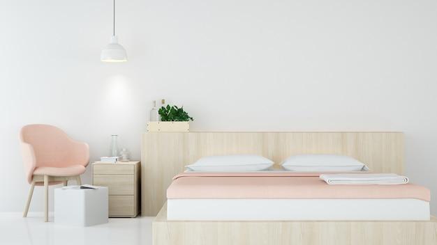 Je Slaapkamer Decoreren : Slaapkamer binnenlandse japanse minimale stijl d rendering