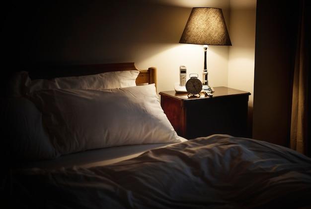 Slaapkamer zonder mensen Premium Foto