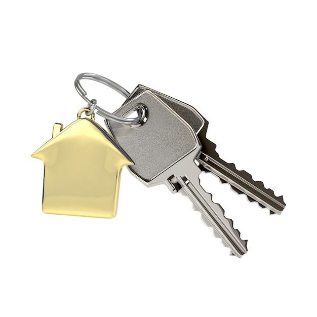 Sleutels met een huishanger. Premium Foto