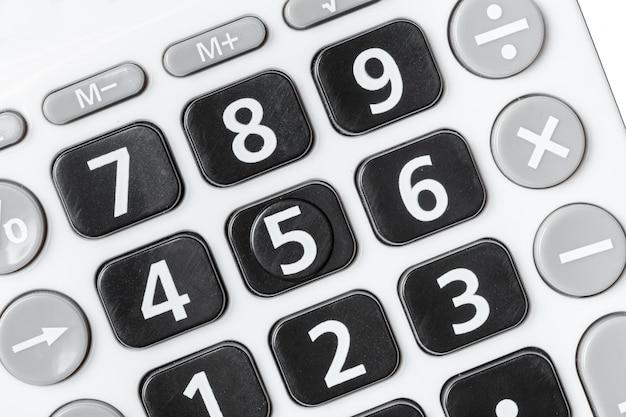 Sluit omhoog beeld van calculator Premium Foto