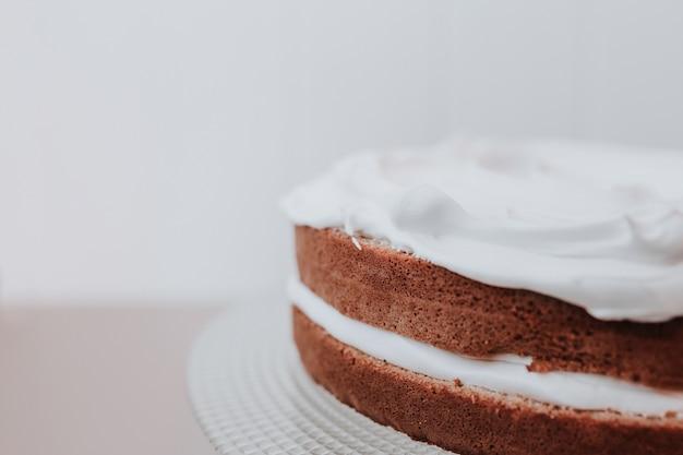 Sluit omhoog geschoten van cake Gratis Foto