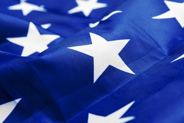 Sluit omhoog ontsproten van de amerikaanse vlag van de vs Premium Foto