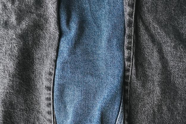 Sluit omhoog op verschillende kleuren jeans Premium Foto