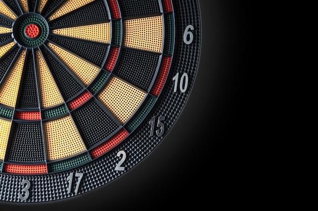 Sluit omhoog van dartboard Premium Foto