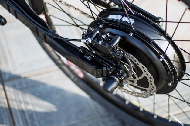 Sluit omhoog van ebike van de motor elektrische fiets Gratis Foto