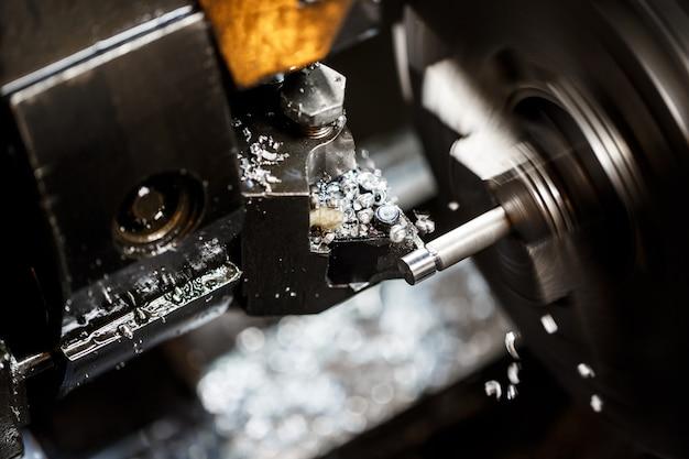 Sluit omhoog van metaalbewerkende machine Gratis Foto
