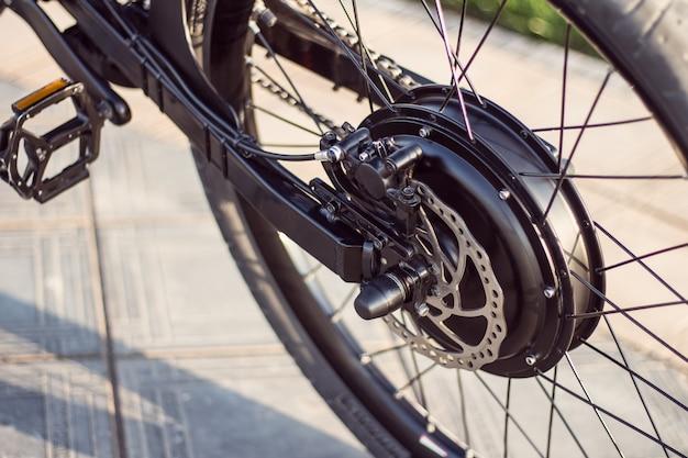 Sluit omhoog van motor elektrische fiets Gratis Foto