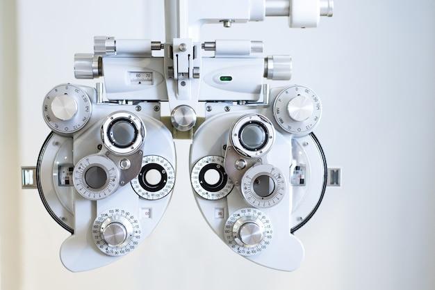 Sluit omhoog van optisch onderzoekshulpmiddel Premium Foto