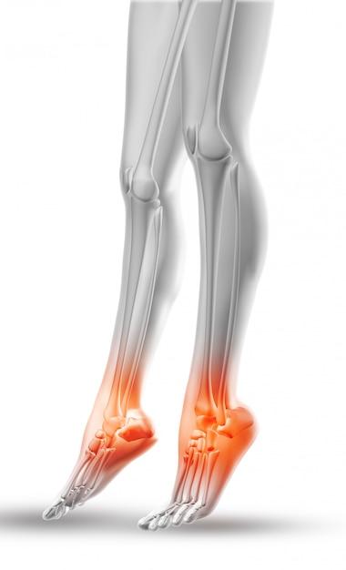 Sluit omhoog van vrouwelijke benen met benadrukte enkels Gratis Foto