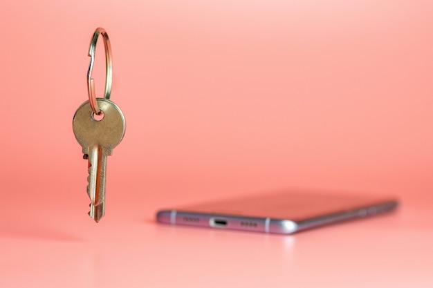 Smart phone security concept, bescherming van overdracht van mobiele datanetwerken Premium Foto