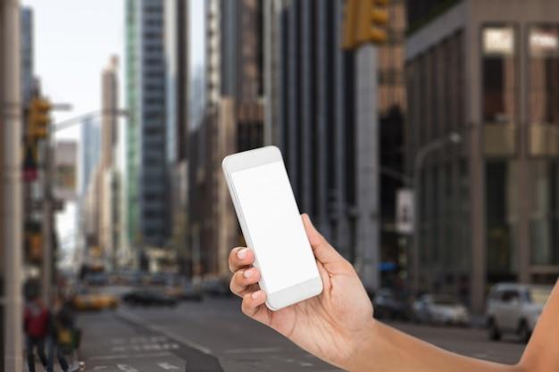 Smartphone met een leeg scherm Gratis Foto
