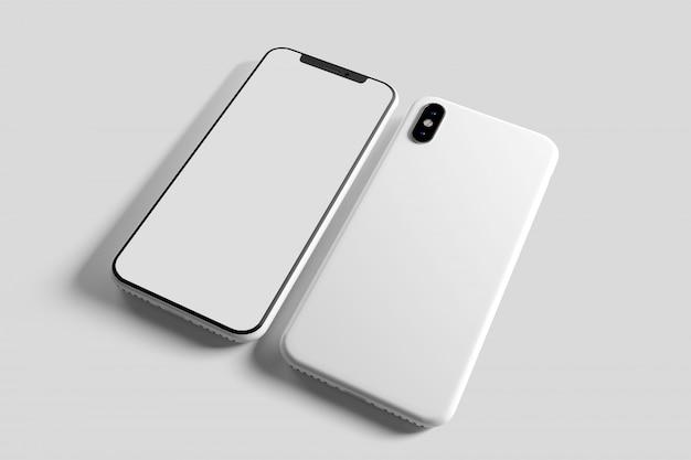Smartphone scherm en zaak Premium Foto