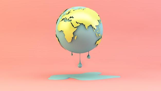 Smeltende aarde Premium Foto
