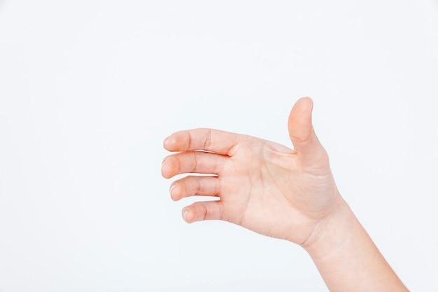 Snijd de hand met problemen met de gewrichten Gratis Foto