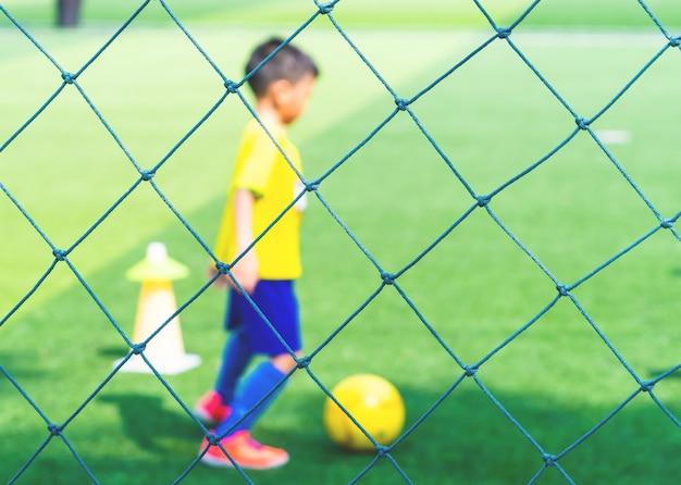 Soccer academy-veld voor kinderen training Premium Foto