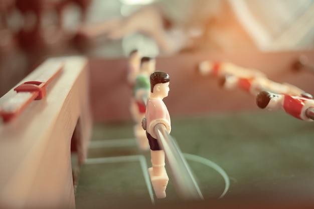 Soccor tafelvoetbalspel, entertainment, sportteam Premium Foto