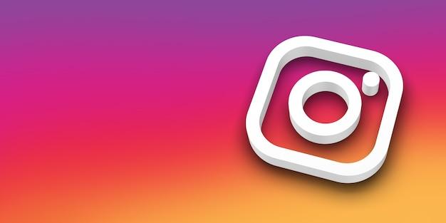 Social media 3d-logo Premium Foto