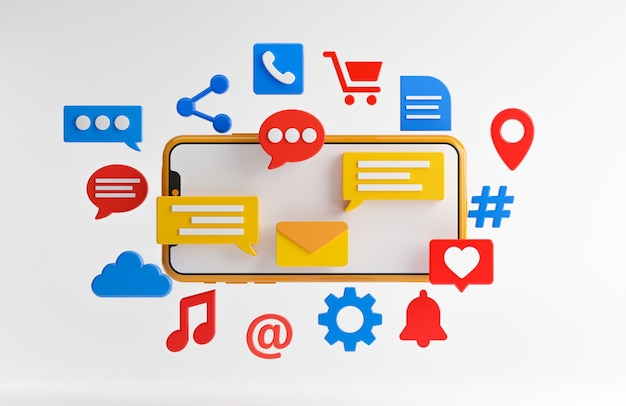 Sociale media concept Premium Foto