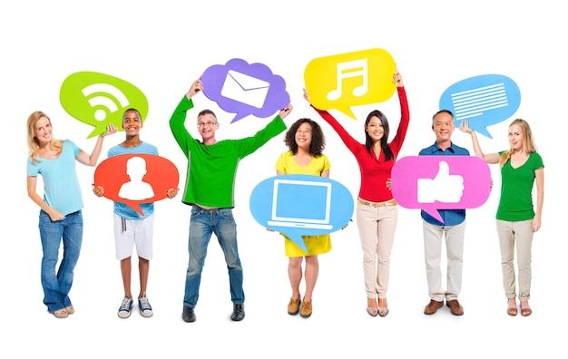 Sociale media Premium Foto