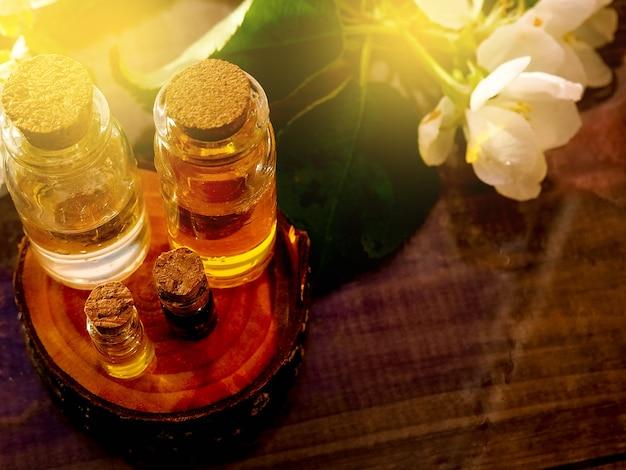 Spa concept met jasmijn bloemen Premium Foto