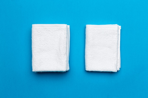 Spa handdoeken, bovenaanzicht Premium Foto