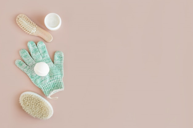Spa wellness schoonheid mock up, verschillende schoonheidsverzorgingsproducten Premium Foto