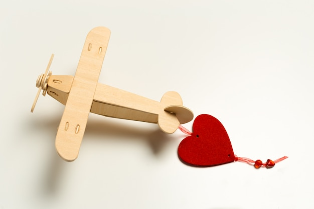 Speelgoed vliegtuig close-up Premium Foto