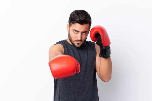 Sport man voorbereid op training Premium Foto