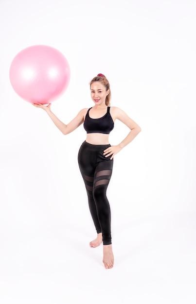 Sport meisje in mode sportkleding Premium Foto