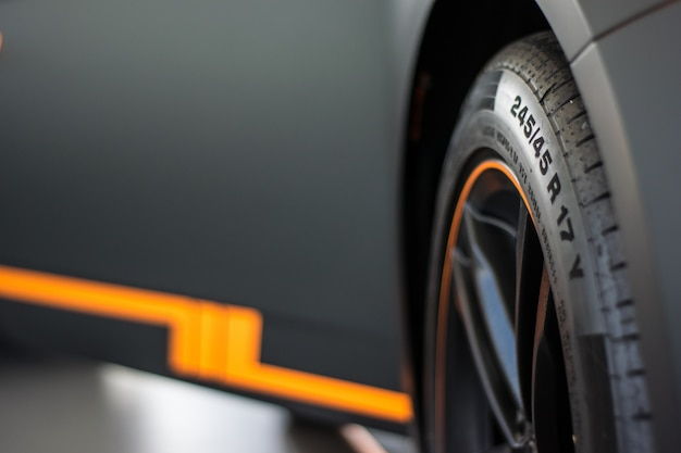 Sportwagen wielweergave Premium Foto