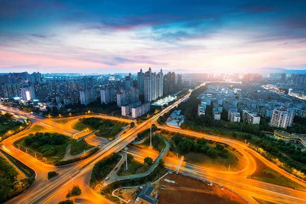 Stad scape van nanchang china. Premium Foto