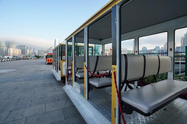Stad sightseeing bus Premium Foto
